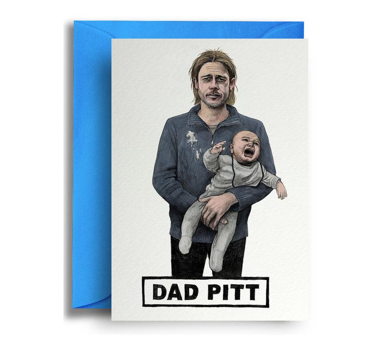 Wenskaart Dad Pitt