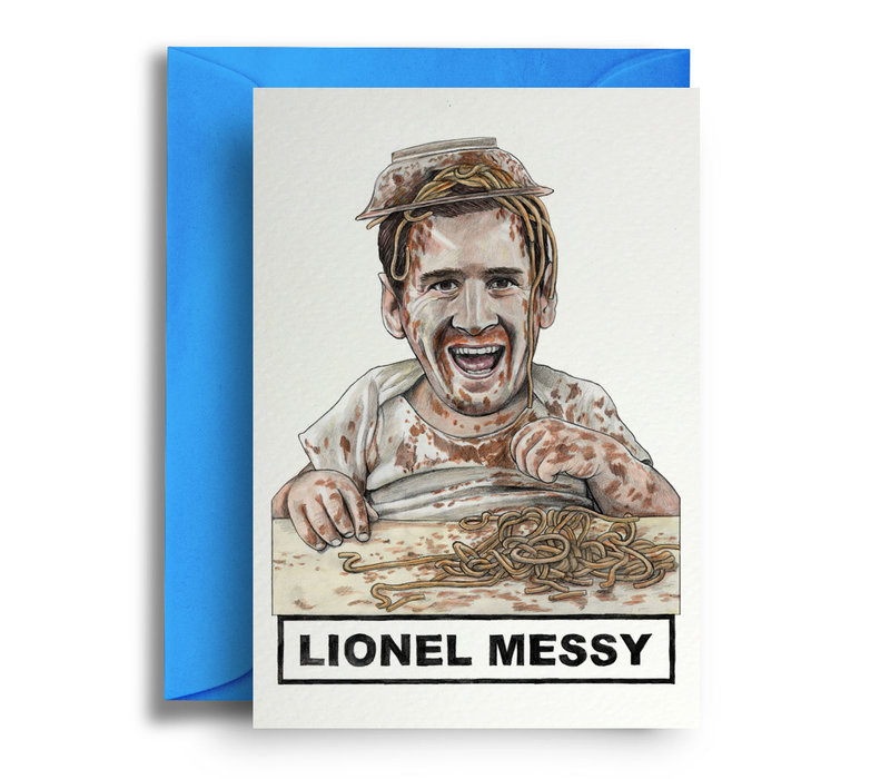 Wenskaart Lionel Messy