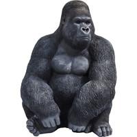 Beeld-  Zwarte Gorilla extra large