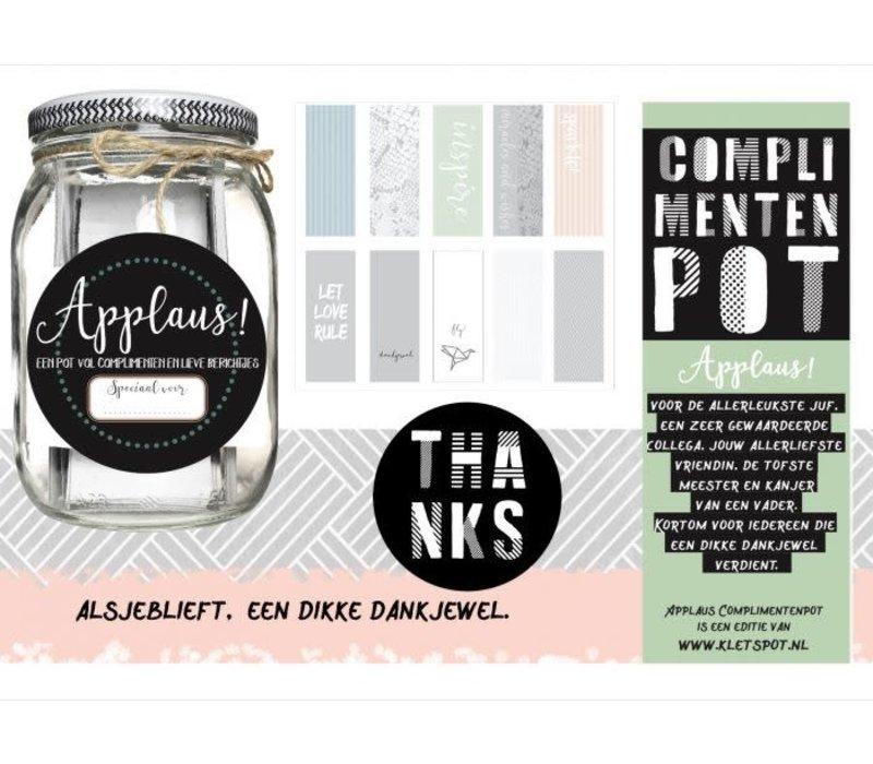 Kletspot Applaus | Complimentenpot