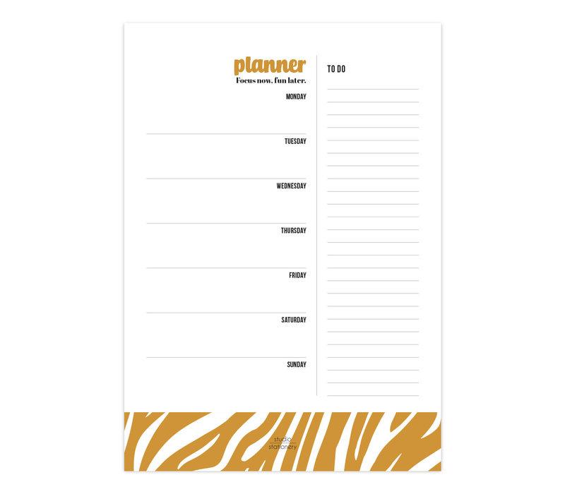 A4 Noteblock | Weekplanner | Focus Now Oker