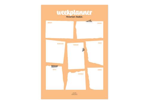 A4 Noteblock | Weekplanner | Structure Junkie Blush