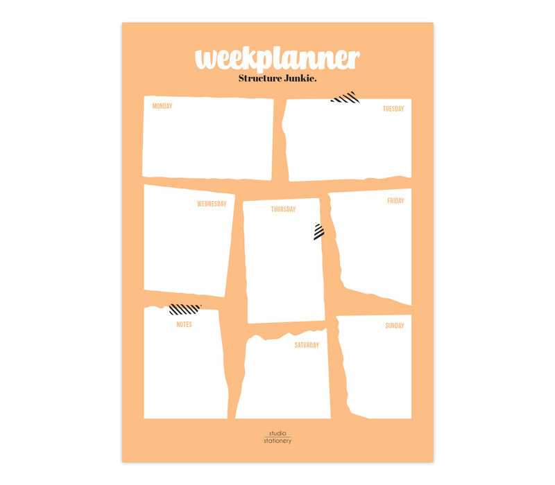 A4 Noteblock | Weekplanner | Perfectly Structured Blush