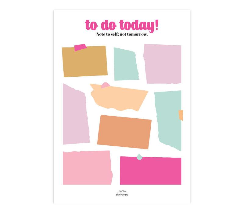 A5 Noteblock  | To Do Today | Multicolor