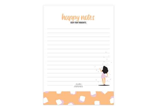 A6 Noteblock | Happy Notes | Very Fun Blush