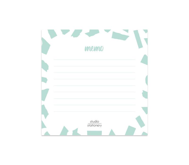 Mini Memo | Mint Confetti