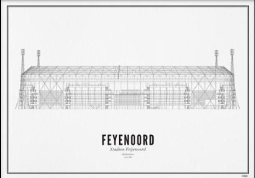 Wijck Poster 30x40 - Stadion Feyenoord