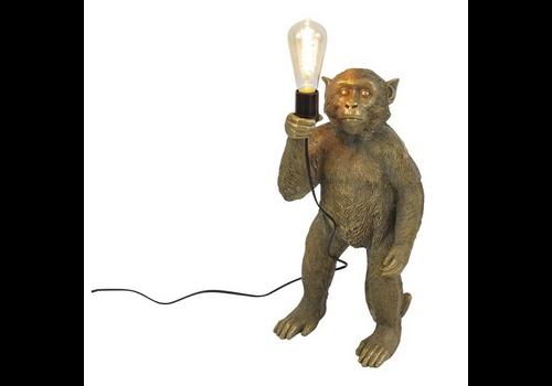 Werner Voss Lamp Standing monkey gold