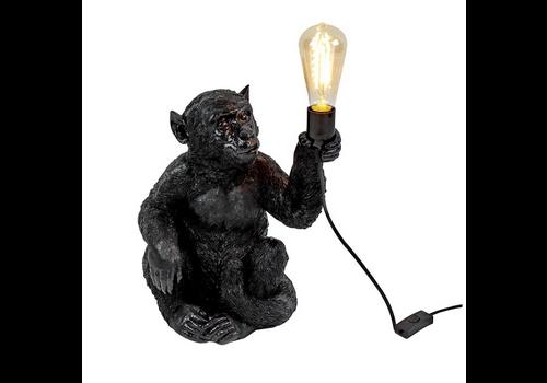 Werner Voss Tafel lamp Sitting monkey black