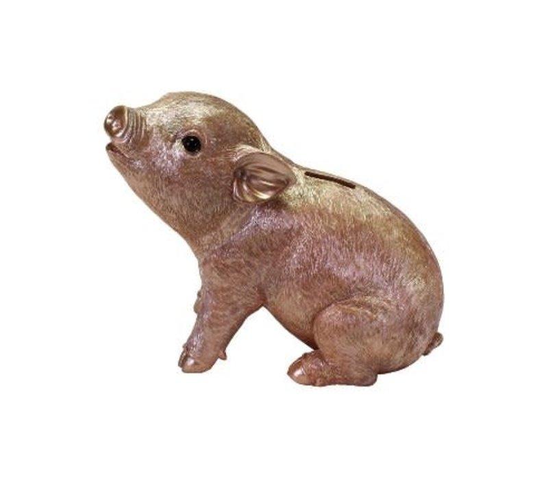 Piggy spaarpot, rosé goud