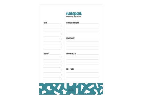 A5 | Notepad | Creatively Organized | Petrol