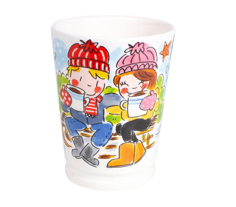 Set Mazagran Hot Chocolate-blauw