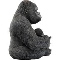 Beeld-  Zwarte Gorilla met baby