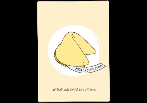 Kaart Blanche 2021 fortune cookie