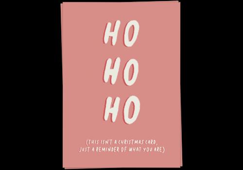 Kaart Blanche Ho ho ho Reminder