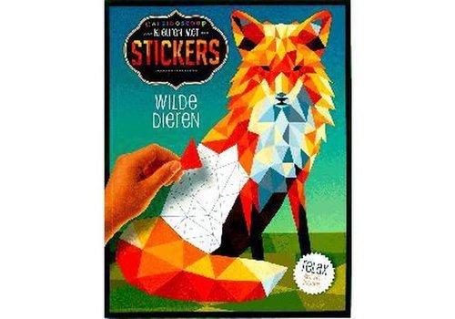 De Lantaarn Kleuren met stickers-wilde dieren