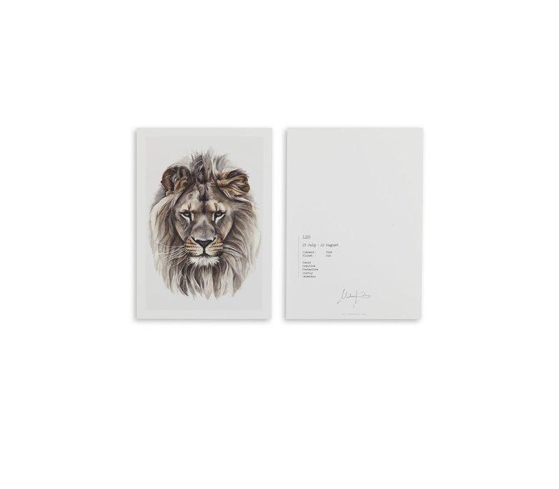 Leo (leeuw) artcard
