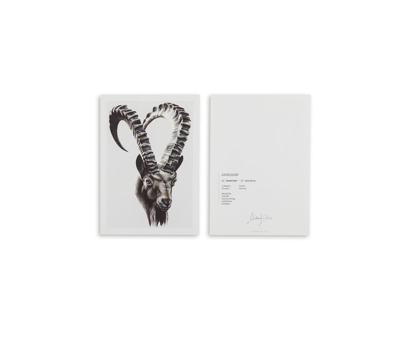 Capricorn (steenbok) artcard