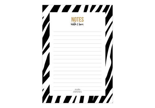 A6 Noteblock | Notes Zebra Black&White