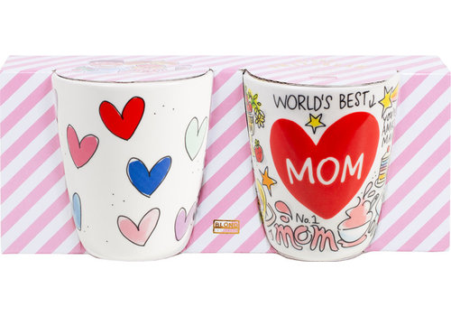 BLOND AMSTERDAM Set twee bekers Mom & Heart