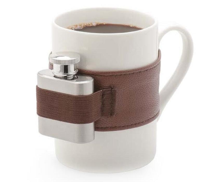 Koffiebeker met schnapps