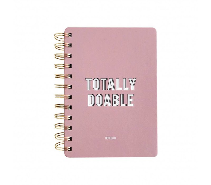Notebook Totally Doable Pink