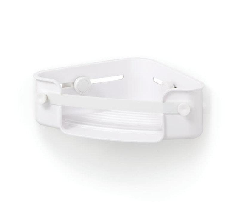 Flex - hoek douche organizer wit