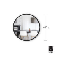 Hub-  ronde spiegel zwart