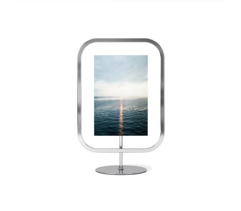 Infinity- vierkante  fotolijst 10x15 cm chroom