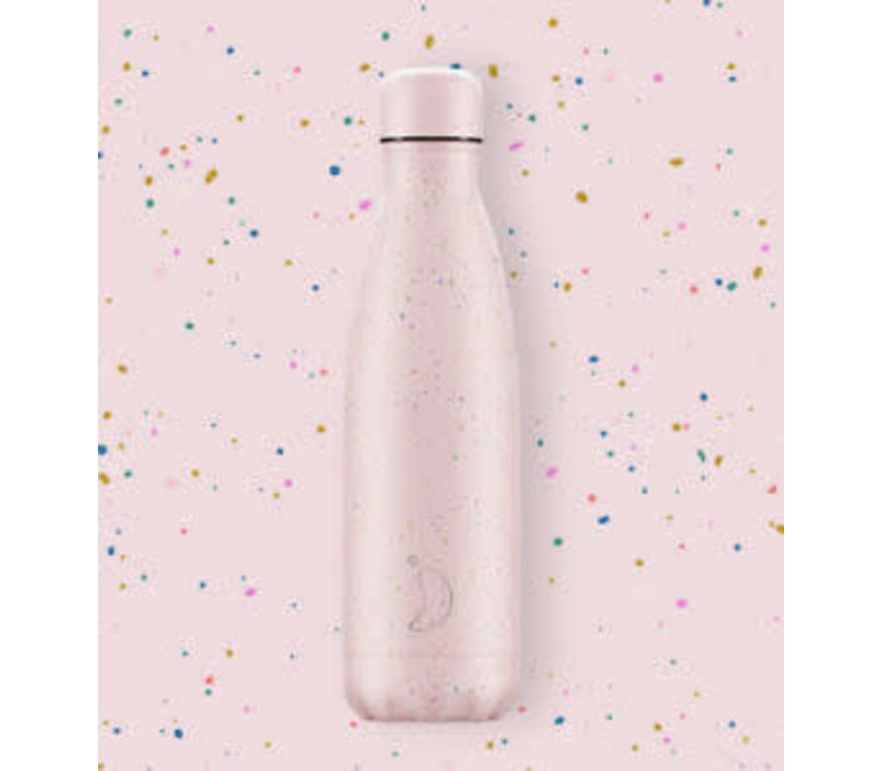 Chilly's thermosfles 500ml Speckled Pink