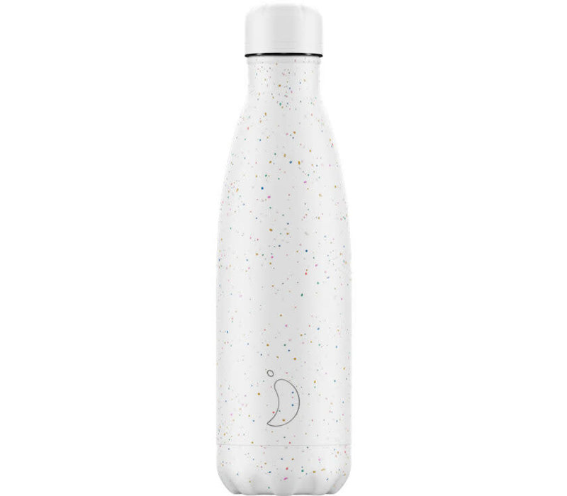 Chilly's thermosfles 500ml Speckled White