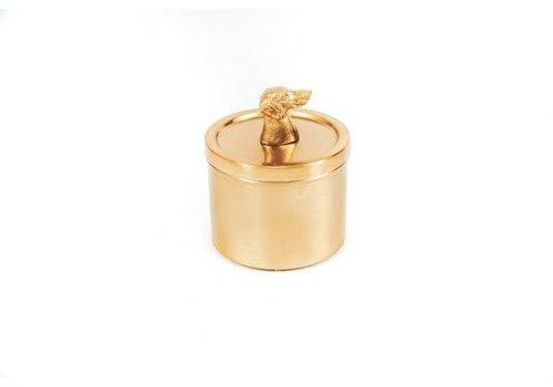 Housevitamin Opbergdoosje - teckel  goud