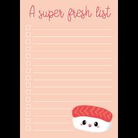 Notitieblok A6 Sushi