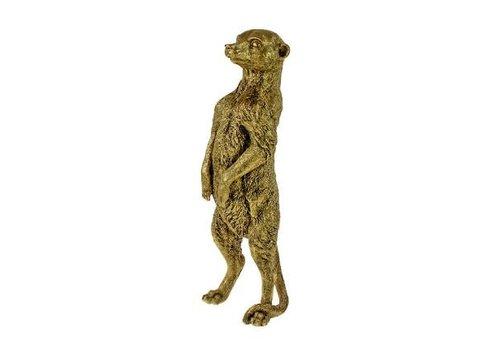 Werner Voss Decoratie meerkat goudkleurig