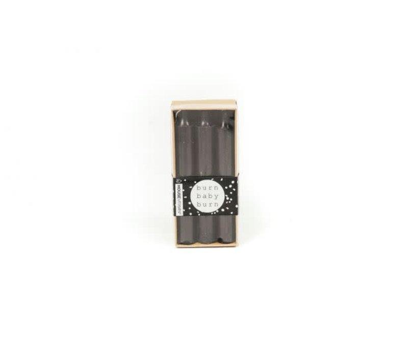 Kaarsen 6 stuks zwart