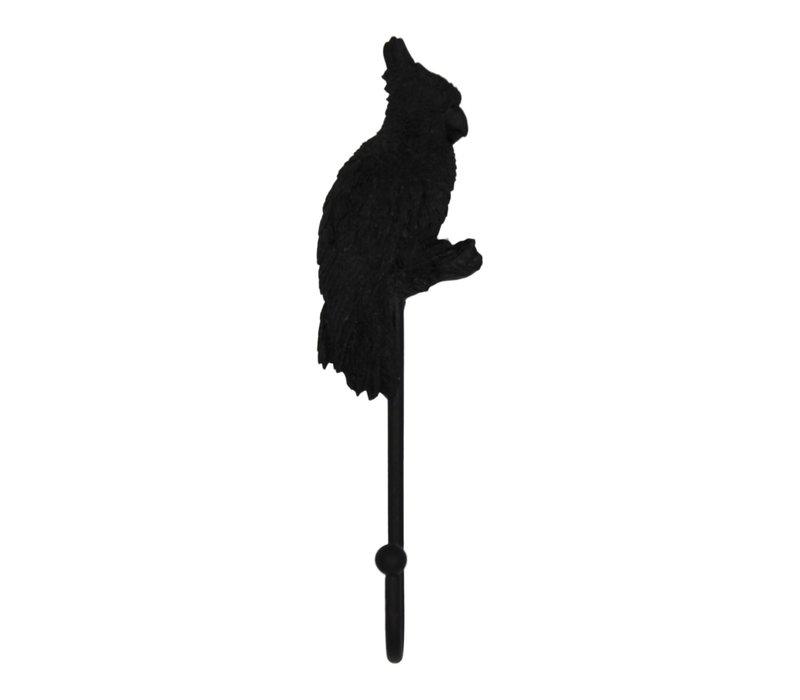 Wandhaak Papegaai - Zwart