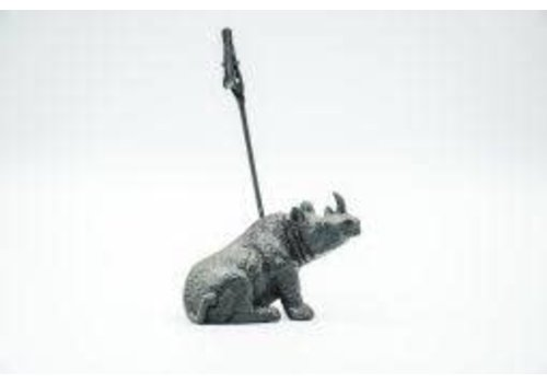 Housevitamin Kaarthouder neushoorn - zwart