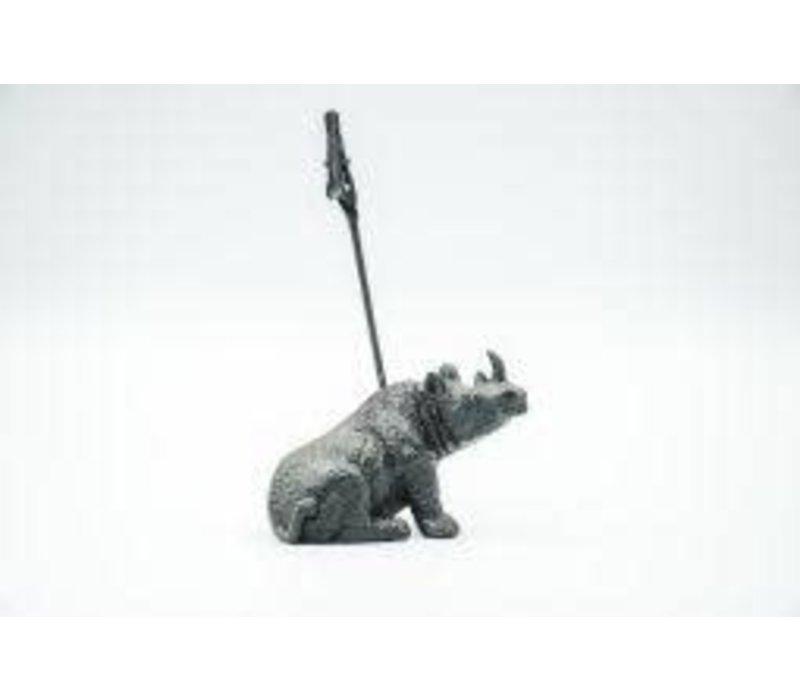 Kaarthouder neushoorn - Zwart