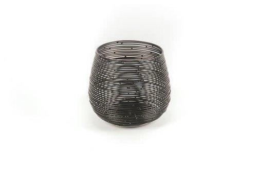 Housevitamin Waxinelichthouder - zwart metaal