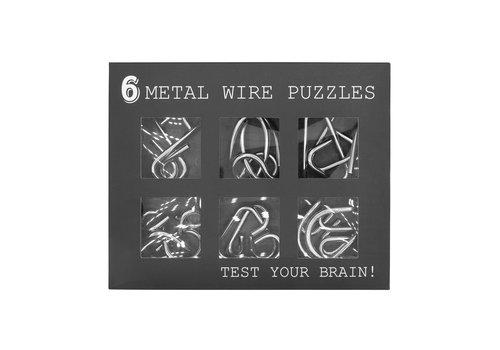 Invotis Metalen ringen puzzel- set van 6
