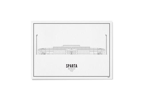 Wijck Poster 30x40 - Stadion Sparta