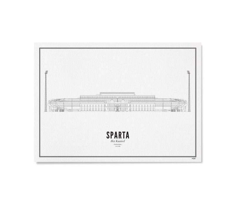 Ansichtkaart - Stadion Sparta