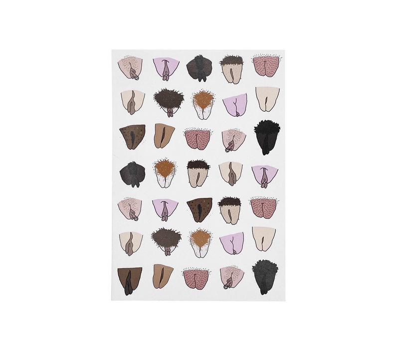 A5 notitieboek - Hairy Vulva's