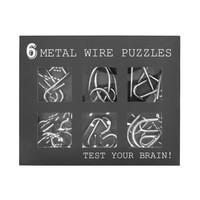 Metalen ringen puzzel- set van 6