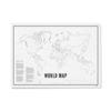 Wijck Poster 30x40 - World Map