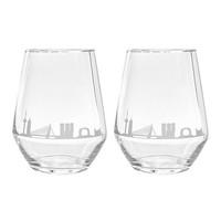 Waterglas - Rotterdam skyline set van 2