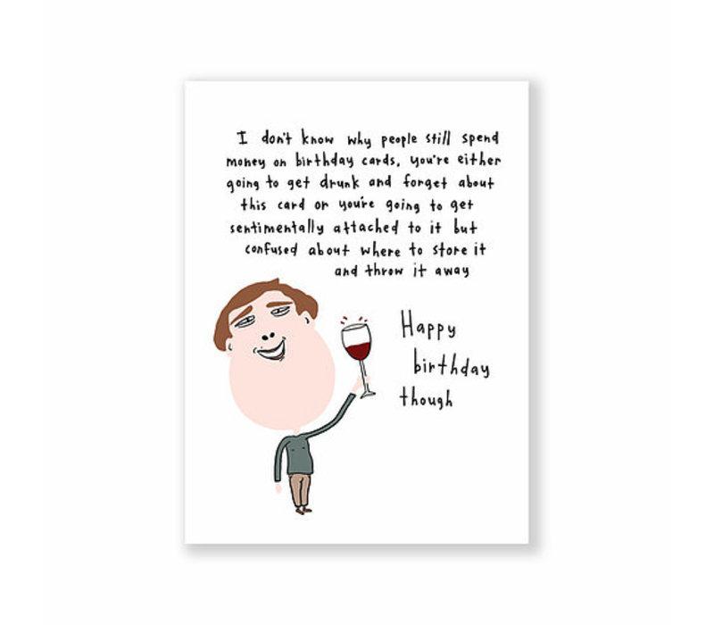 Kaart - Happy Birthday Though