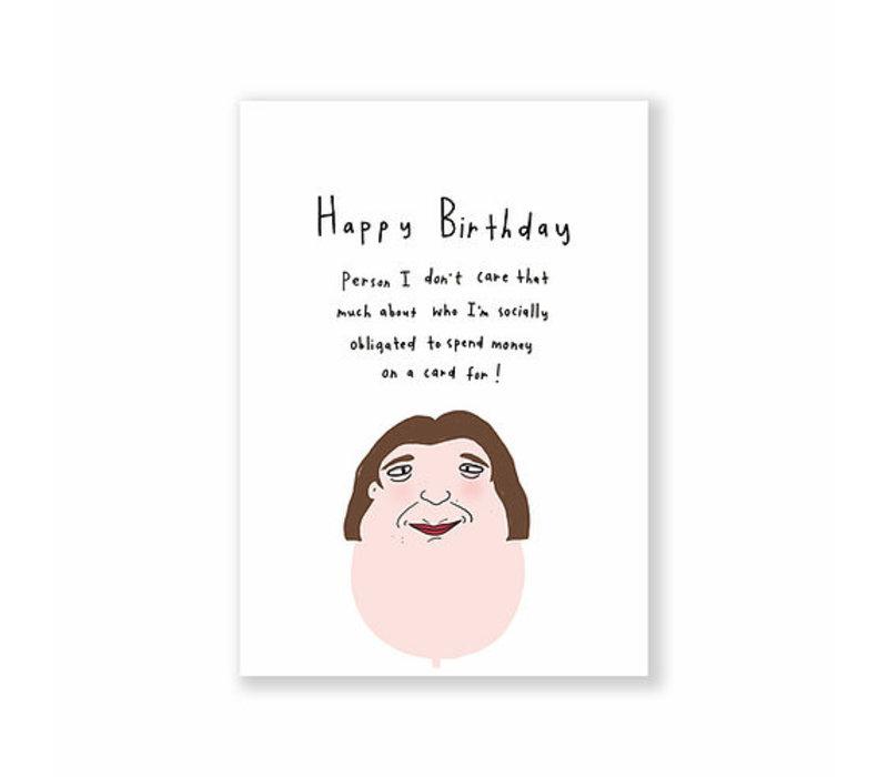 Kaart - birthday obligation