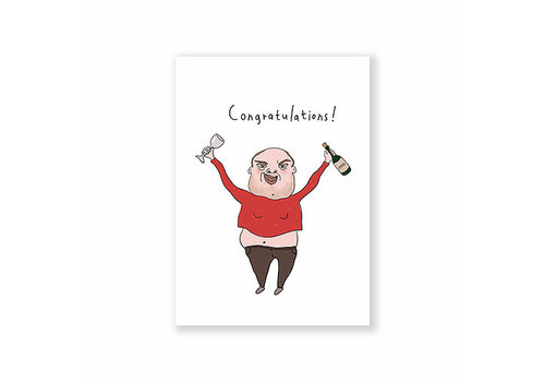 Eatmielies Kaart - Congratulations Man