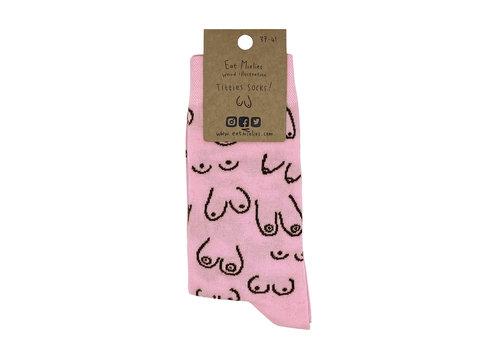 Eatmielies Sokken - Titties pink (37-41)